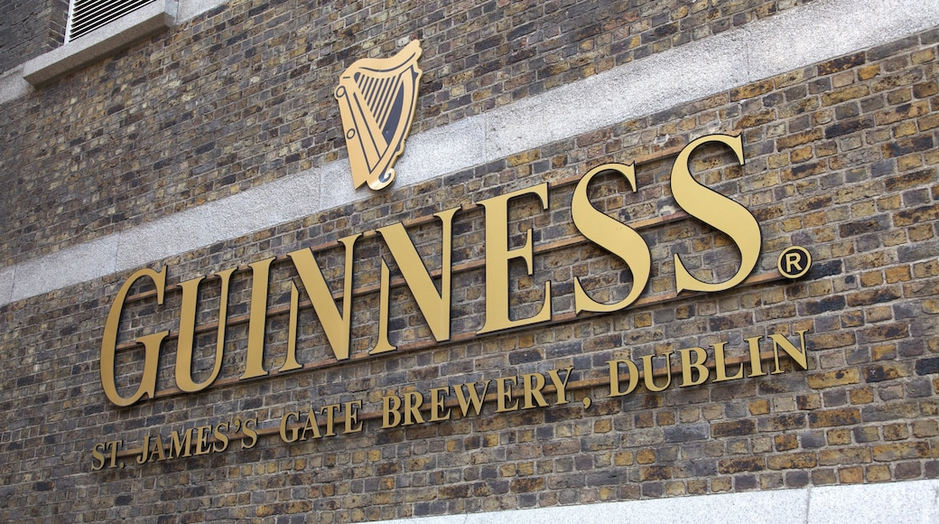Guinness Storehouse which includes signage