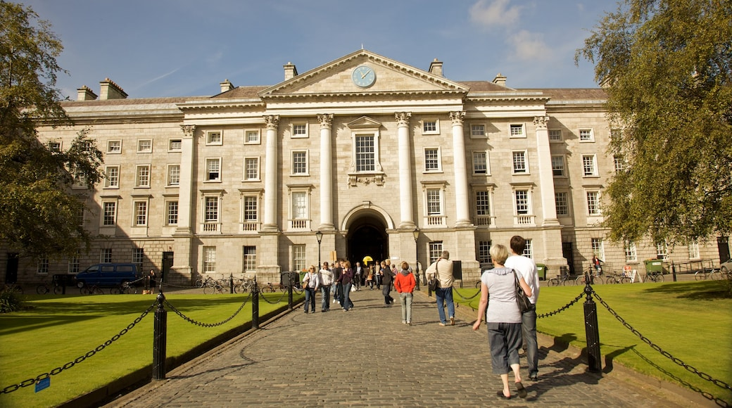 Trinity College which includes a city and heritage architecture
