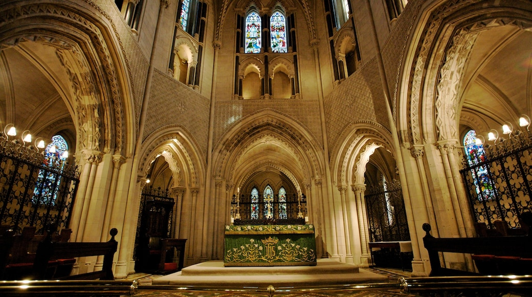 Christ Church Cathedral showing interior views, a church or cathedral and religious aspects