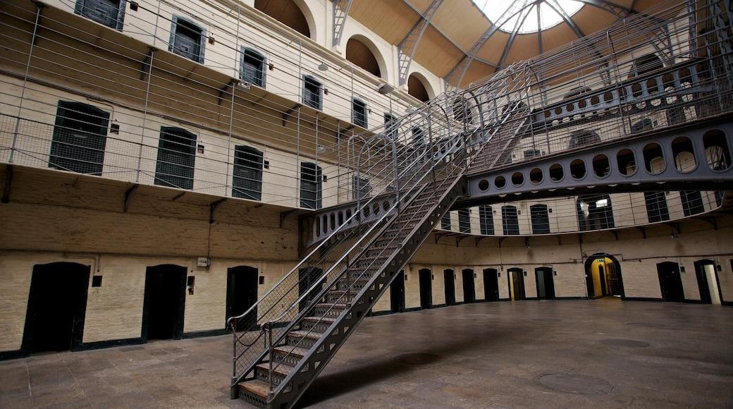 Kilmainham Gaol Historical Museum featuring interior views