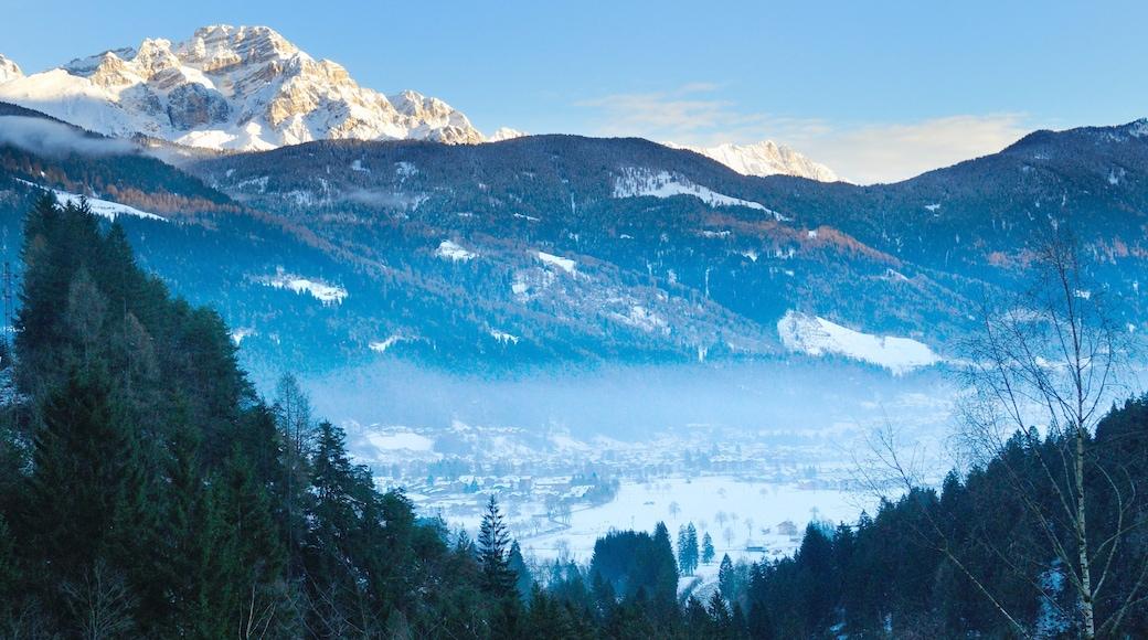 Pinzolo mostrando neve, montagna e vista del paesaggio