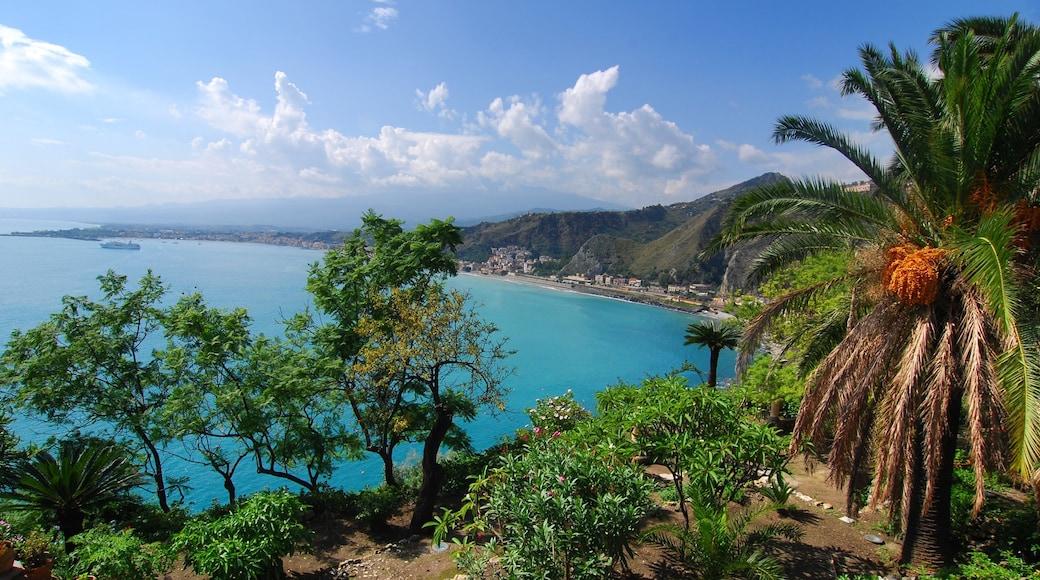 Ätna welches beinhaltet tropische Szenerien und allgemeine Küstenansicht