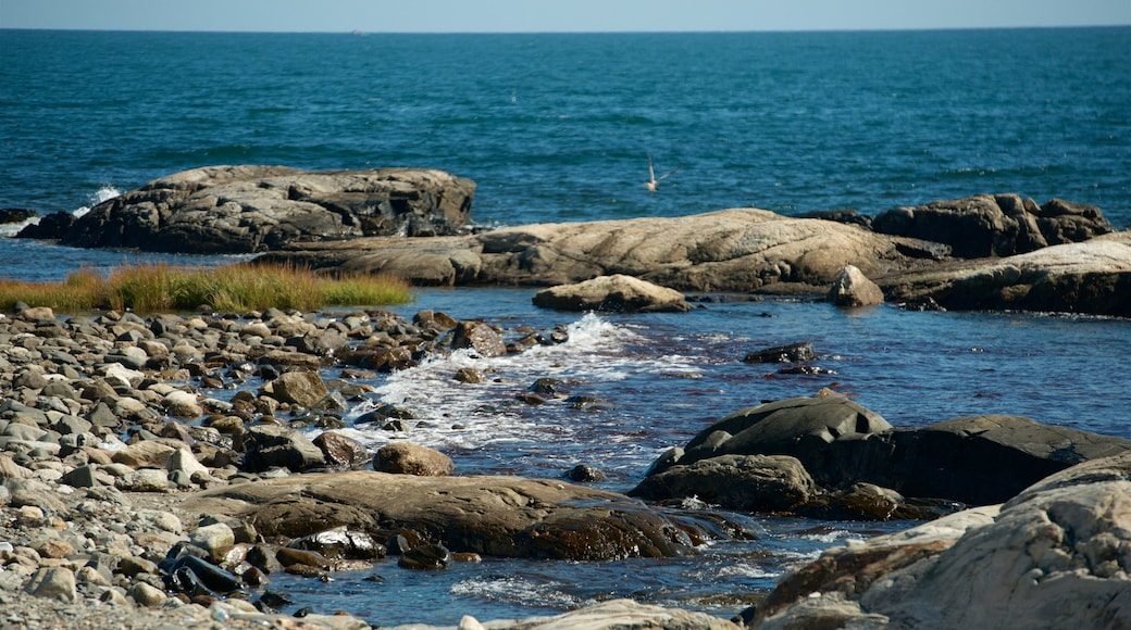New Hampshire featuring rugged coastline and general coastal views