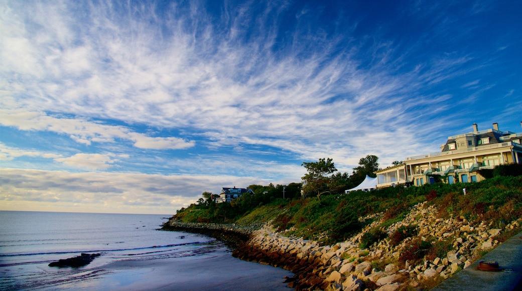 Newport which includes general coastal views and rocky coastline