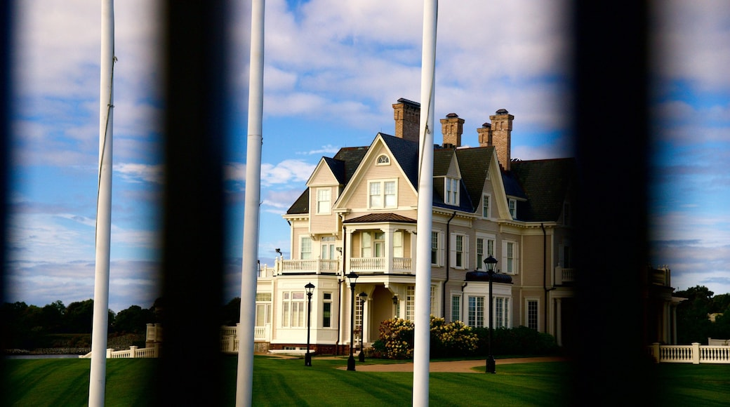 Newport showing heritage architecture and a house