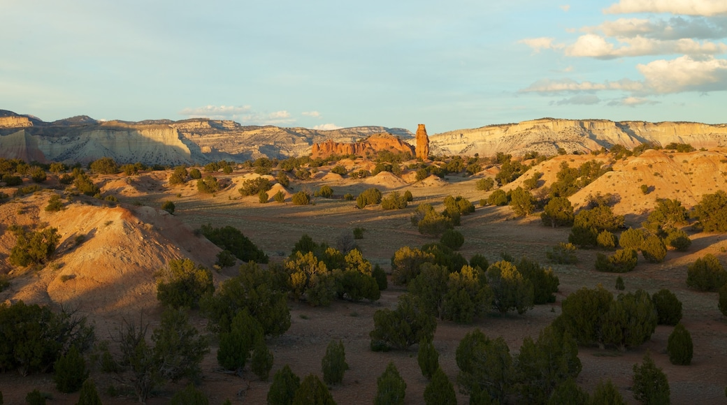 Kodachrome Basin State Park which includes desert views, landscape views and a sunset
