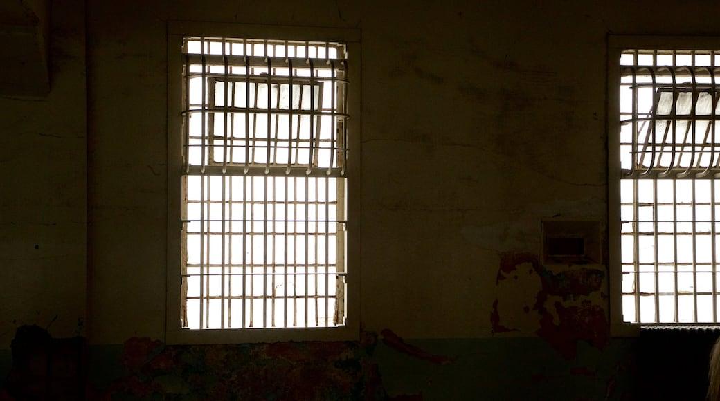 Alcatraz Island which includes interior views