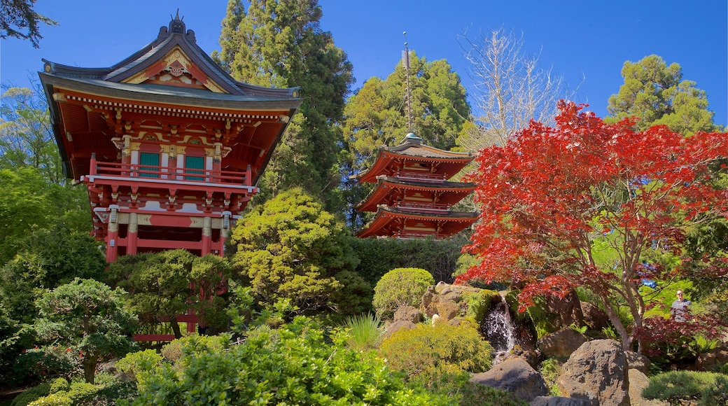 Japanese Tea Garden which includes a park and heritage architecture