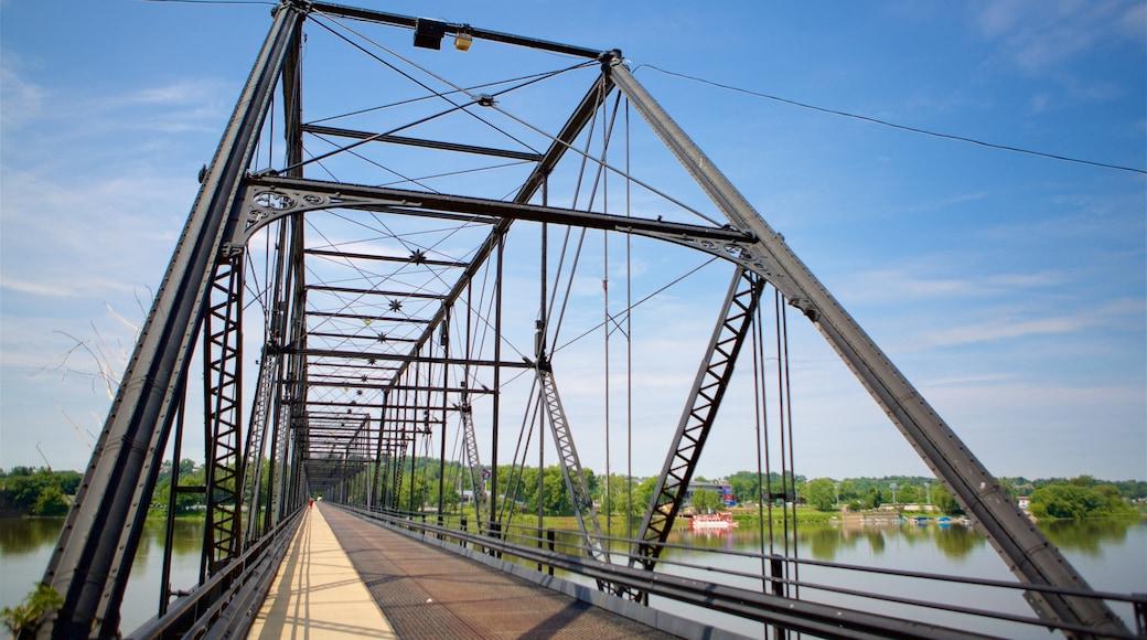 Harrisburg featuring a bridge and a river or creek