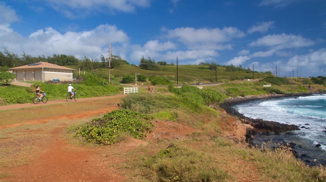 Ke Ala Hele Makalae East Shore Beach Path which includes general coastal views, rocky coastline and cycling