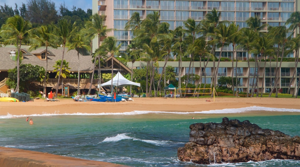 Kalapaki Beach showing a beach, general coastal views and tropical scenes