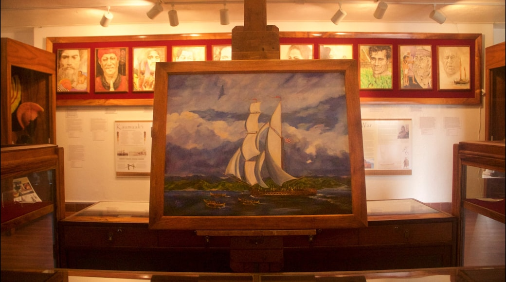 Kauai Museum which includes interior views and art