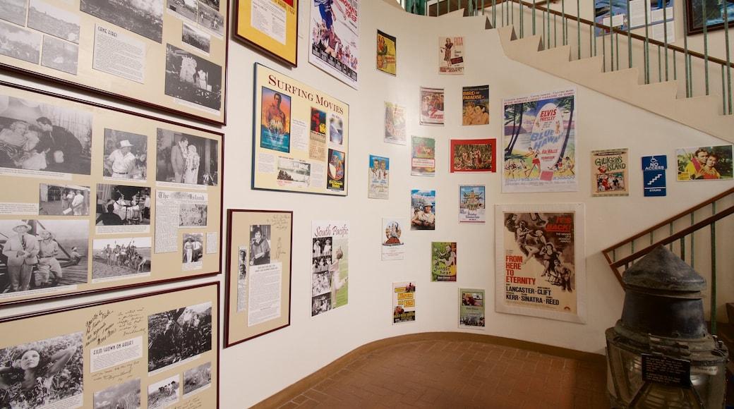 Kauai Museum showing interior views
