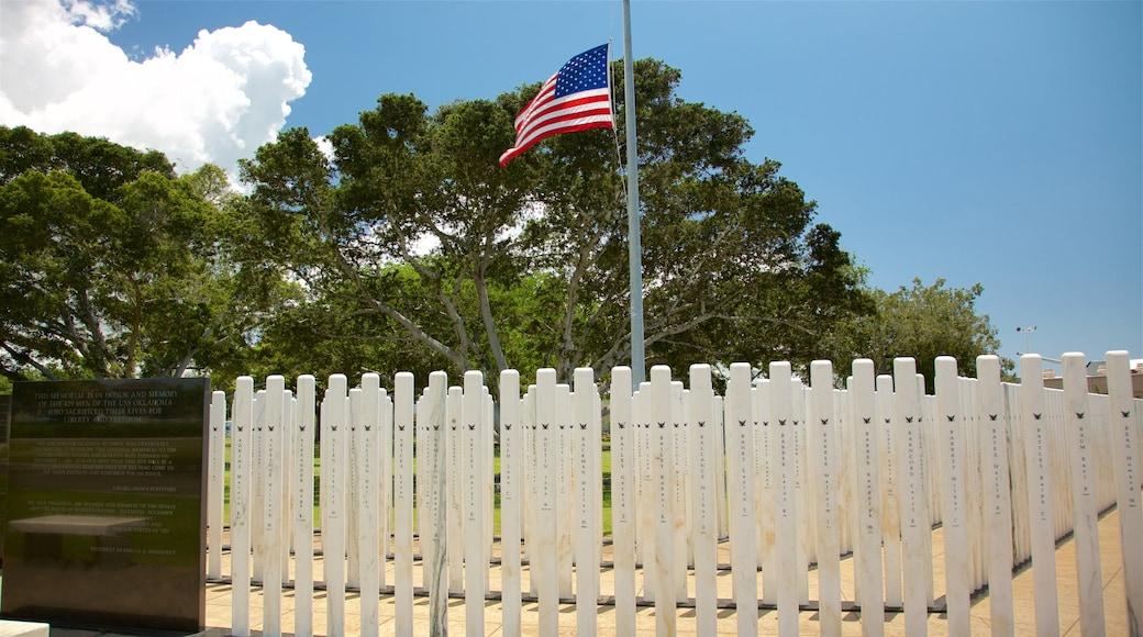USS Oklahoma Memorial featuring a garden