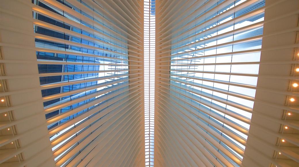 The Oculus featuring interior views