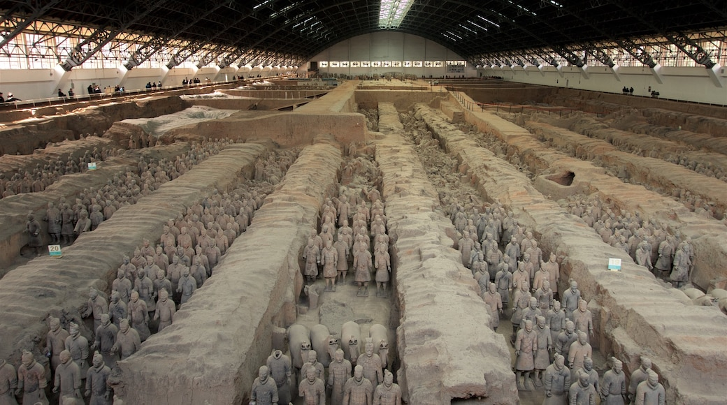 Terracota Army which includes heritage elements and interior views