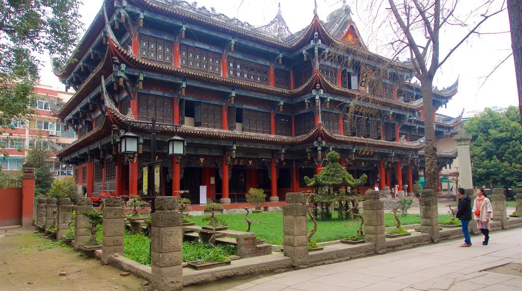 文殊院 呈现出 公園 和 歷史建築 以及 一對夫婦