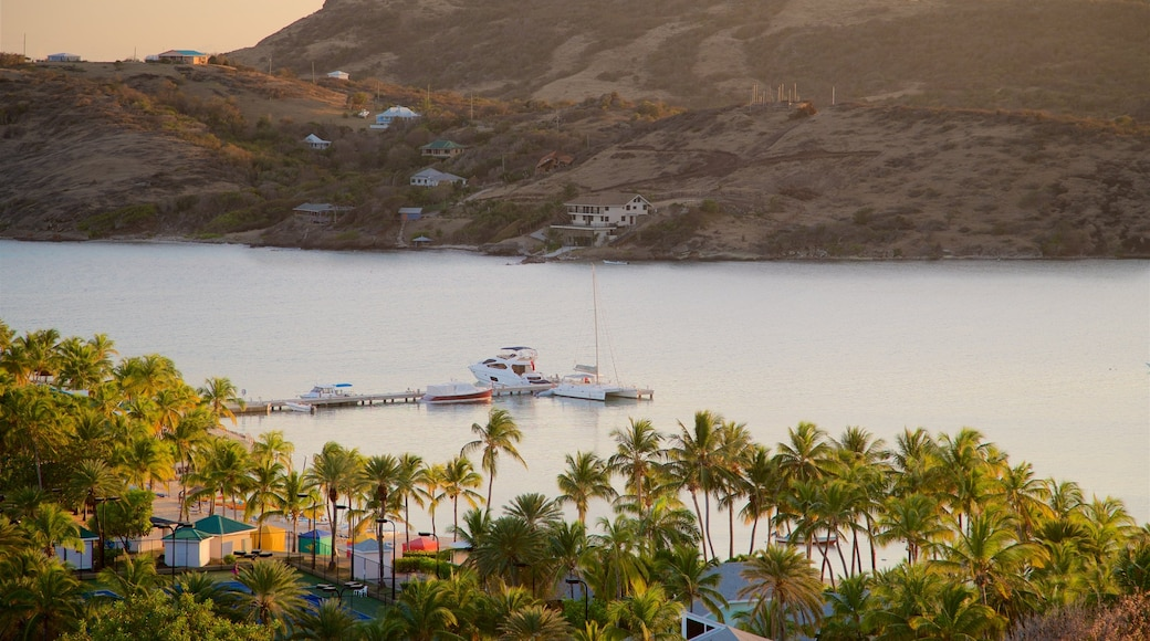 Mamora Bay showing a sunset, tropical scenes and a bay or harbor