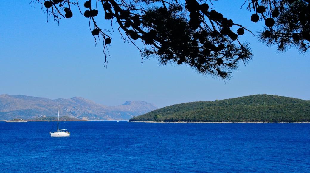 Korcula featuring boating and general coastal views