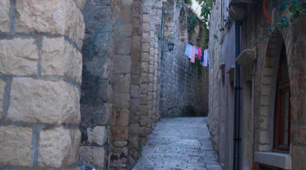 Korcula showing heritage elements