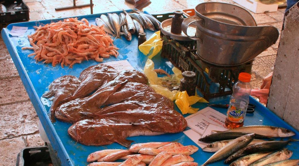 Marché aux poissons mettant en vedette marchés et nourriture