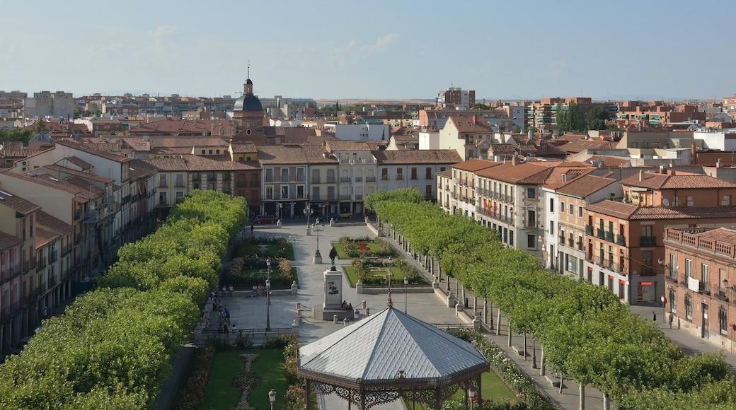 Alcalá de Henares das einen Park, Stadt und Landschaften