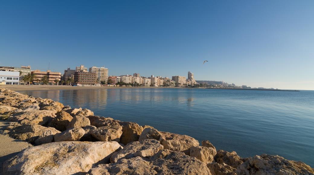 Santa Pola bevat een kuststadje en algemene kustgezichten