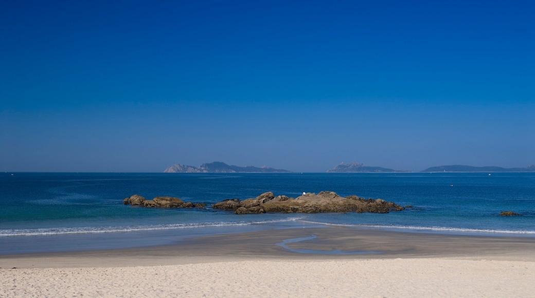 Vigo ofreciendo vistas de una costa y una playa