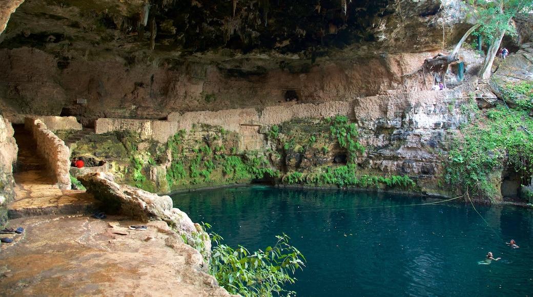 Cenote Zaci showing a lake or waterhole