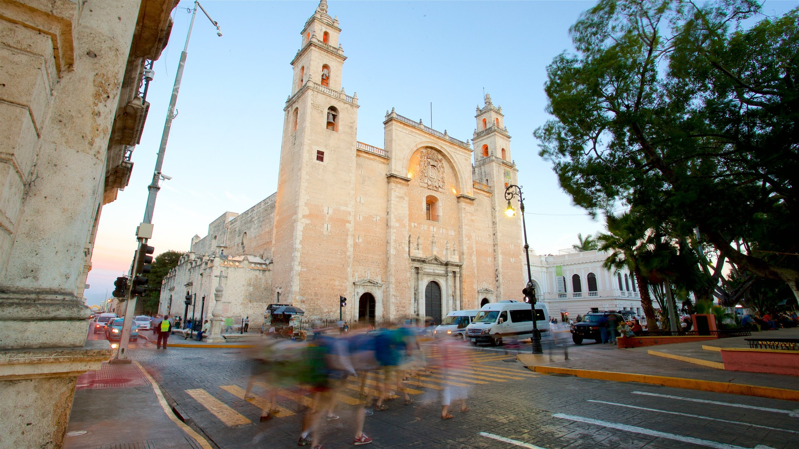 Visit chapels and survey impressive works of religious art inside this ancient church, an imposing building in the historical center of Merida.