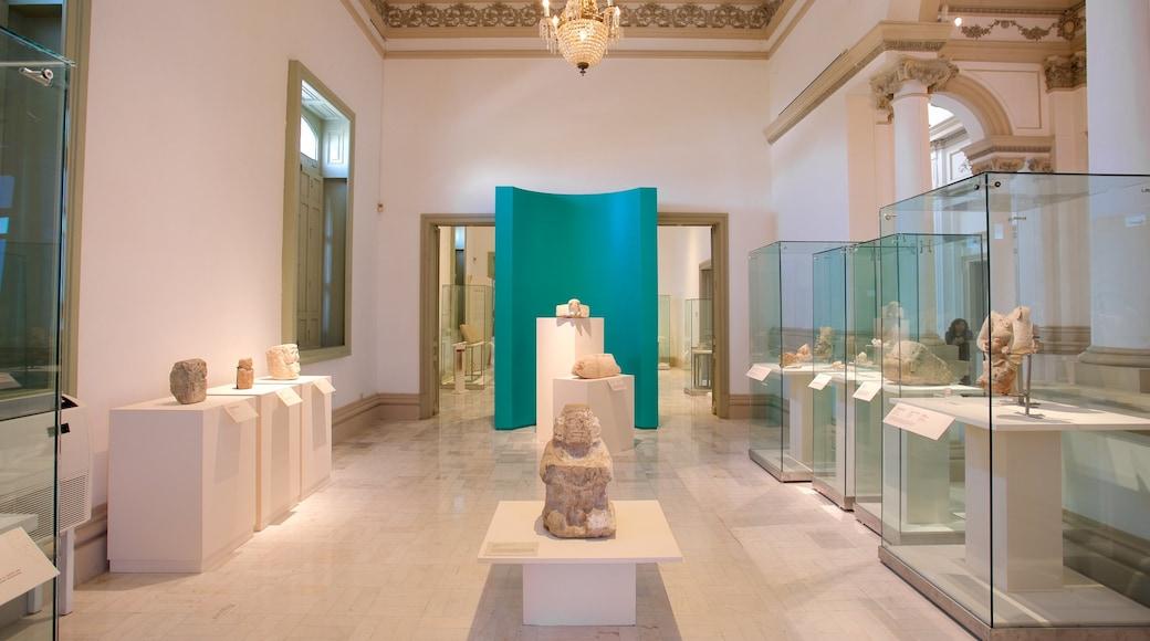 Museo de Antropología e Historia ofreciendo vistas interiores y elementos del patrimonio