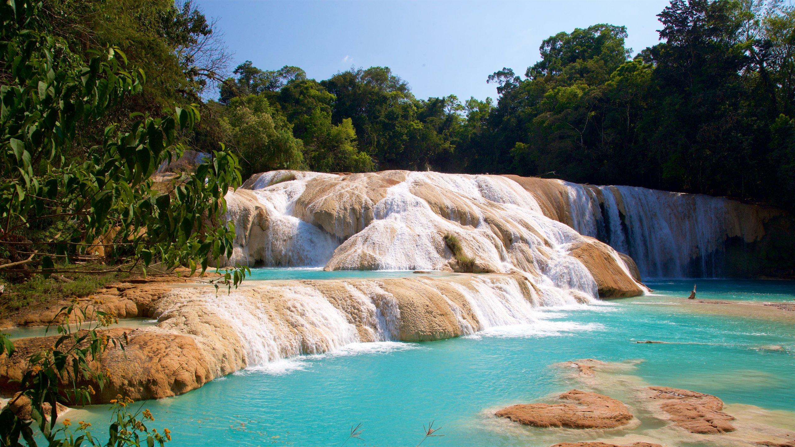 No hay sitio con una mejor panorámica que las Cascadas de Agua Azul.