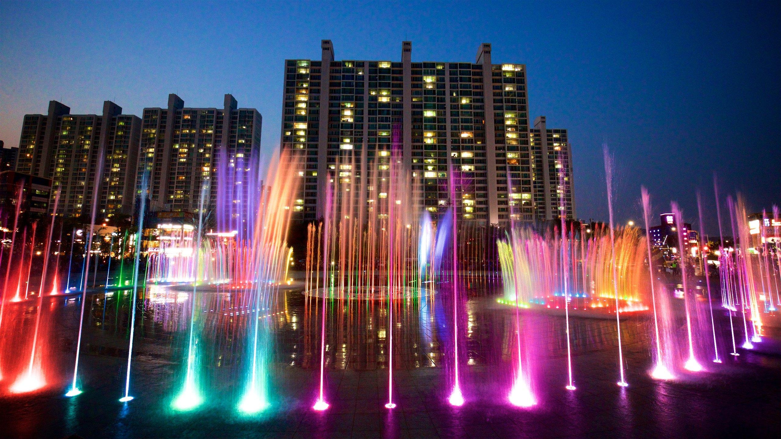Traumbrunnen Dadaepo Sunset, Busan, Südkorea