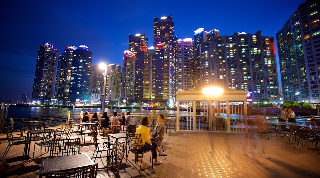 Busan featuring a river or creek, a city and outdoor eating