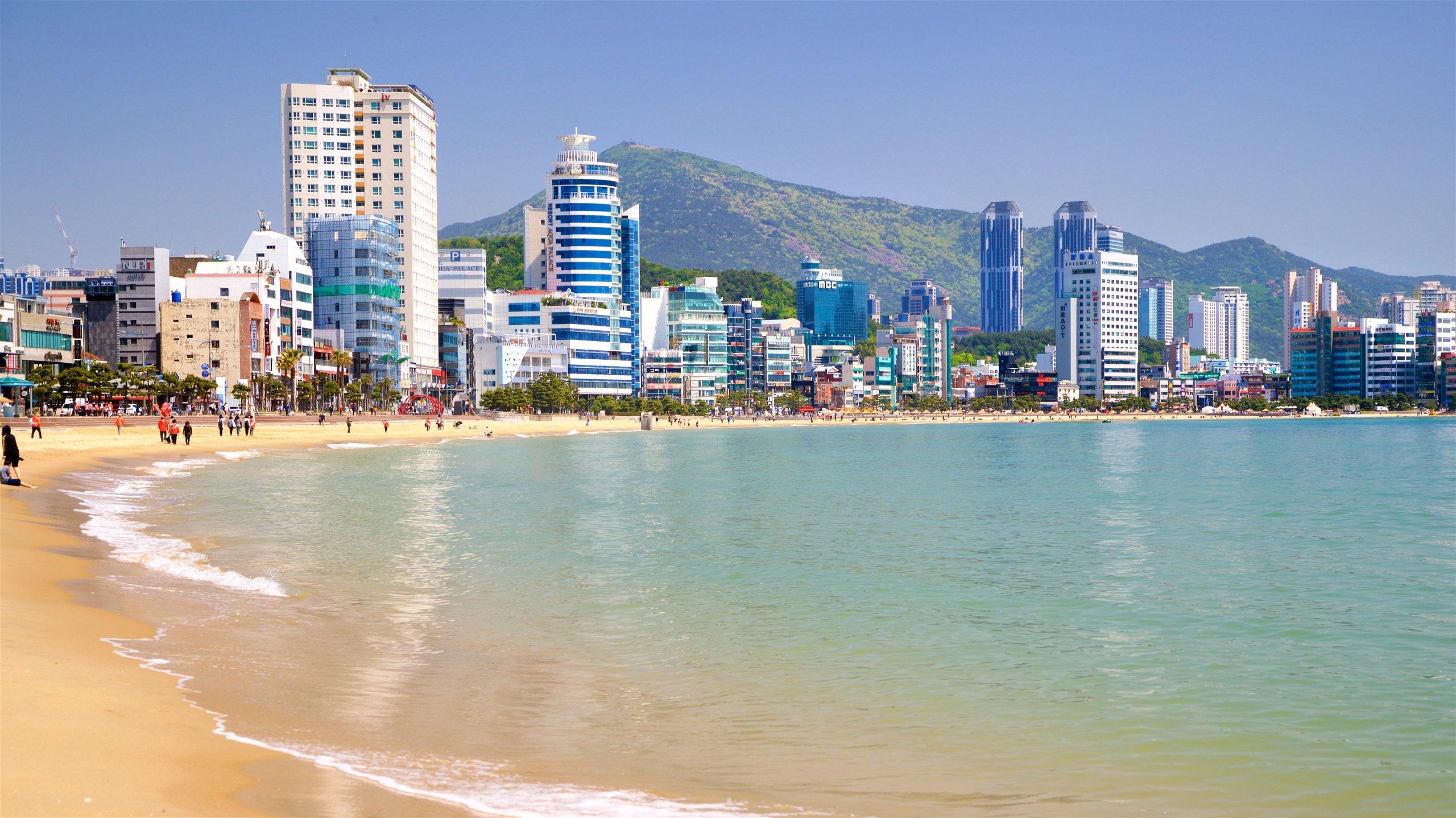 Strand von Gwangalli, Busan, Südkorea