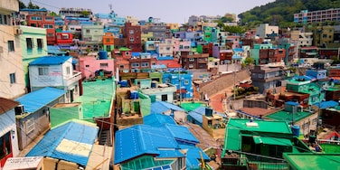 Gamcheon Culture Village featuring landscape views and a city