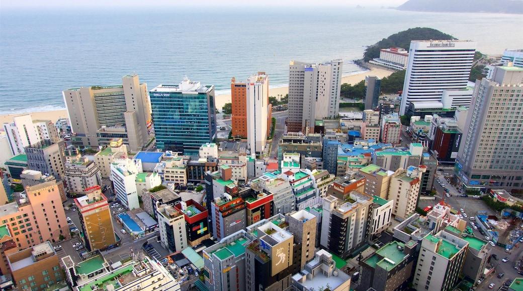 Haeundae featuring a coastal town, general coastal views and landscape views