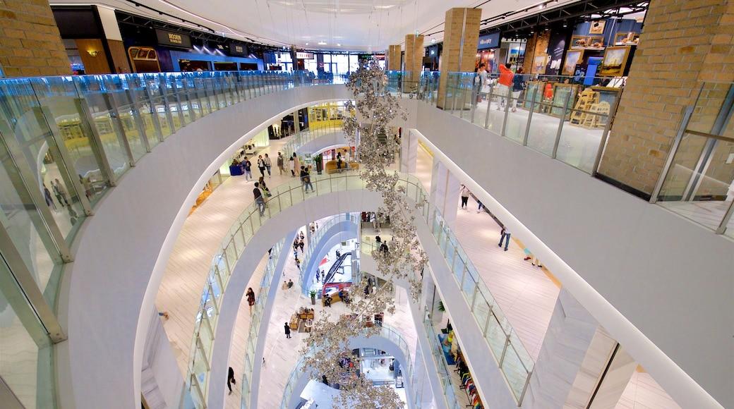 Shinsegae Centum City showing interior views and shopping