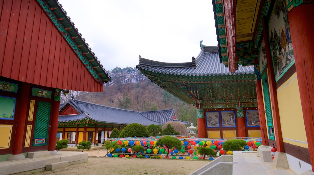 Woljeongsa Temple which includes heritage elements and a temple or place of worship
