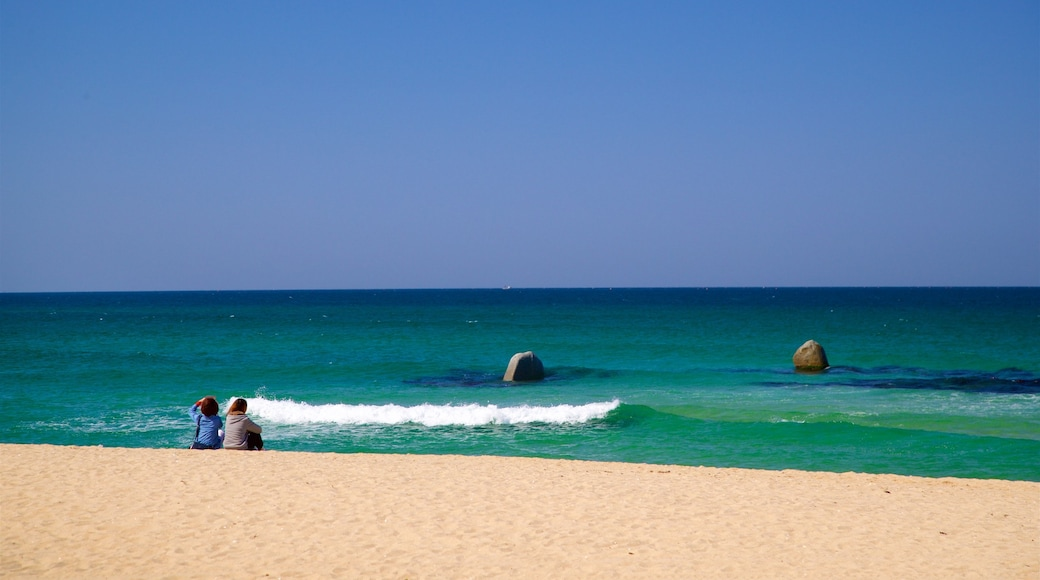 Anmok Beach showing general coastal views and a beach as well as a couple