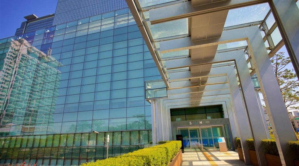 Museu da Inovação Samsung mostrando uma cidade