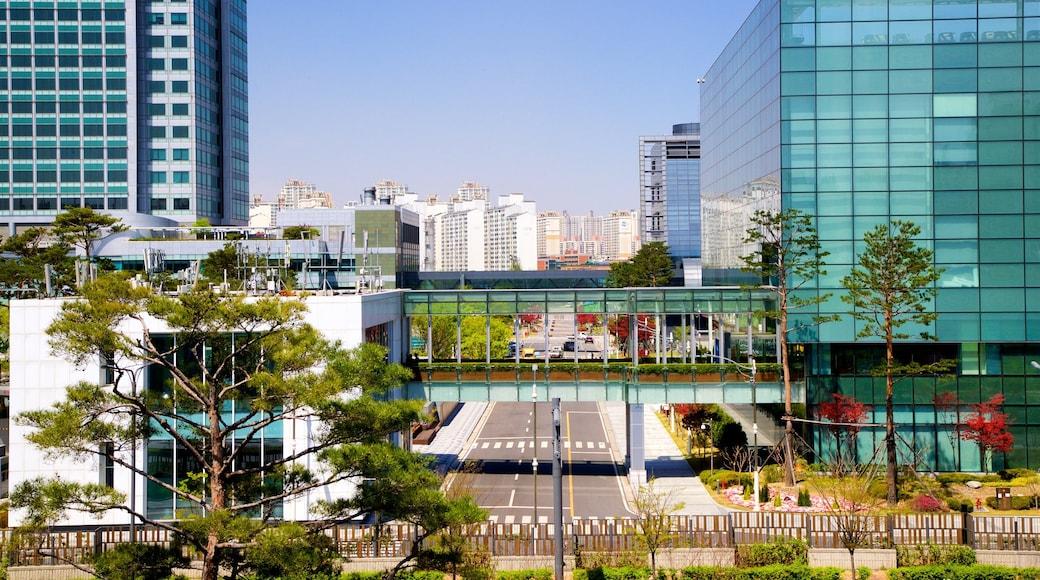 Museu da Inovação Samsung caracterizando uma cidade e paisagem