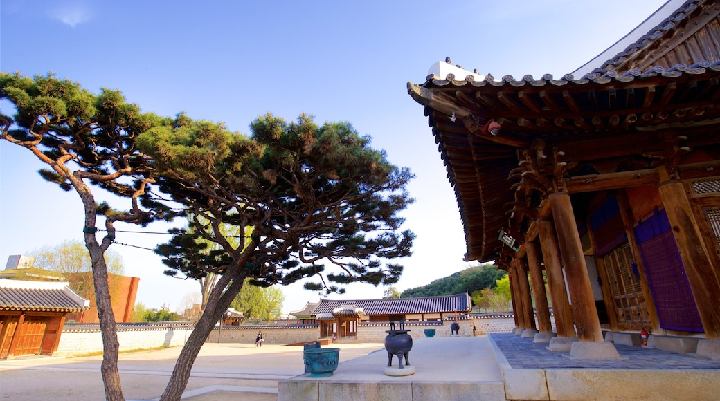 Palácio Hwaseong Haenggung que inclui elementos de patrimônio