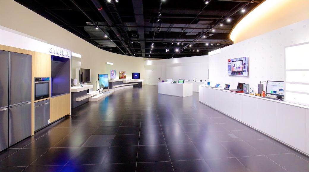 Museu da Inovação Samsung caracterizando vistas internas