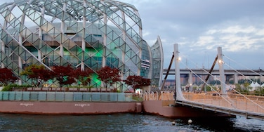 ซอโช-กู เนื้อเรื่องที่ แม่น้ำหรือลำธาร, สะพาน และ สถาปัตยกรรมสมัยใหม่