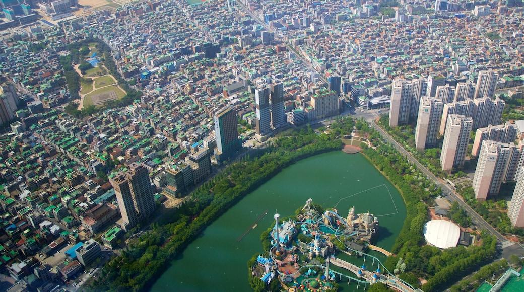 롯데월드타워 이 포함 풍경, 마천루 과 도시
