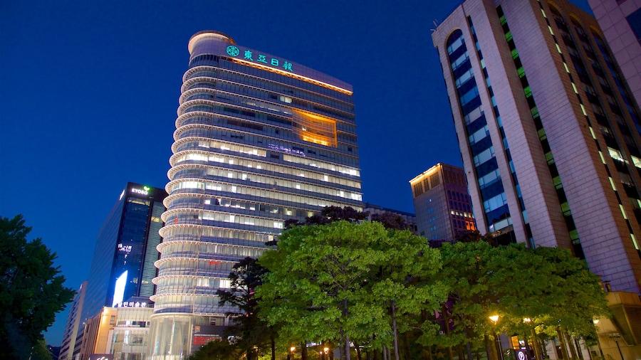 서울 을 보여주는 야경, 마천루 과 도시