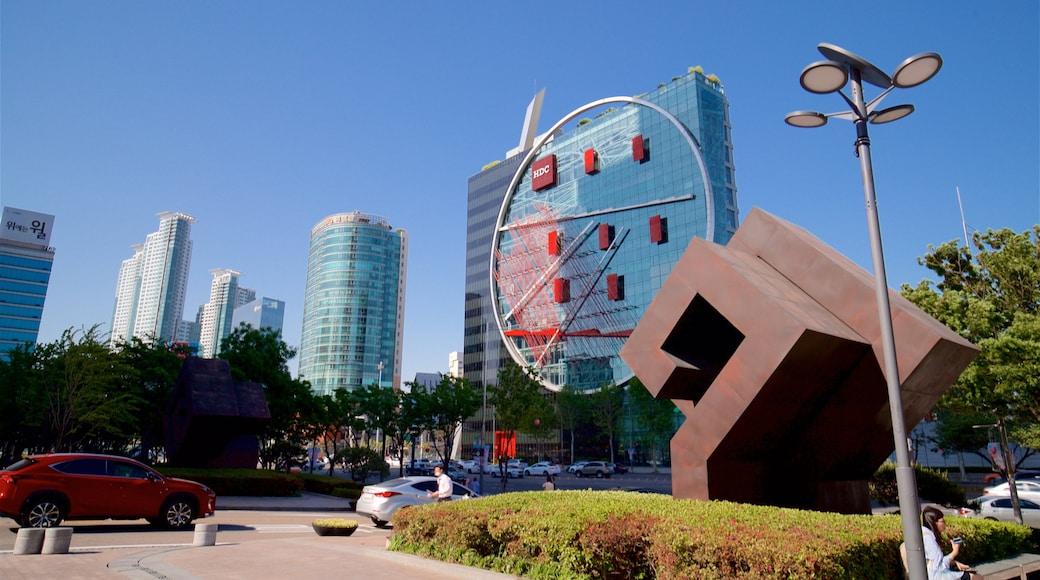 三成洞 呈现出 高樓大廈, 戶外藝術 和 城市