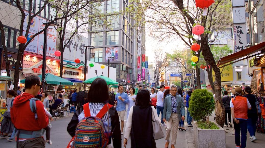 仁寺洞 呈现出 城市 和 購物 以及 一小群人