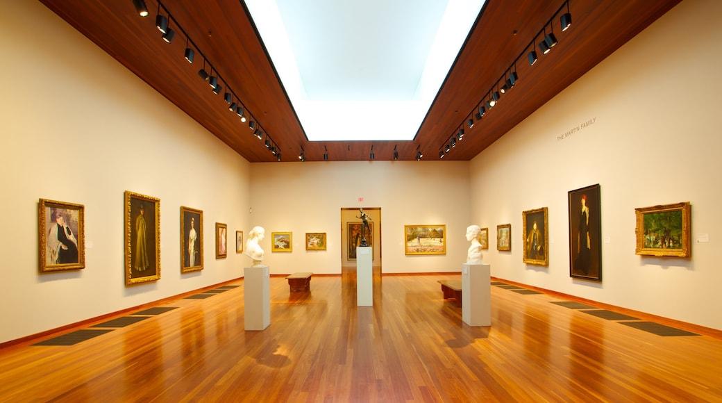 Museo De Young mostrando vistas de interior y arte